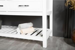 FAWIO modern/contemporary white bathroom vanitie detail