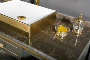 MANHATTAN contemporary classic Anthracite bathroom vanities countertop and sink