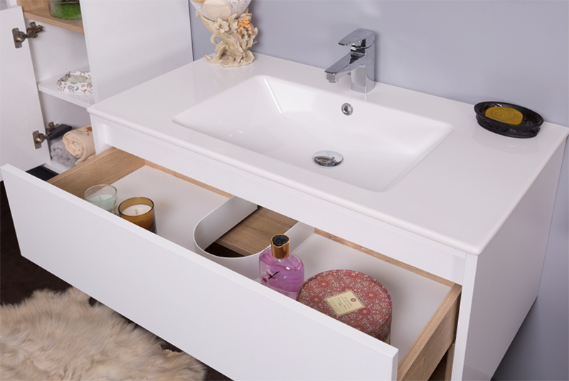 NARA modern bathroom vanity drawer