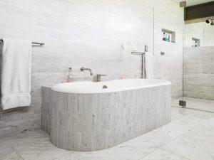 Carrara Marble Tile Bathroom Contemporary Design
