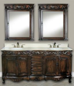 DWI Dragon Bathroom Vanities Antique Teak Cabinets