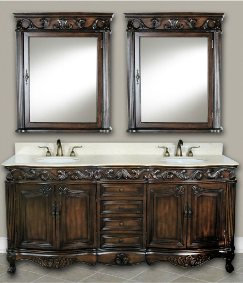 DWI Dragon Bathroom Vanities Antique Teak Cabinets
