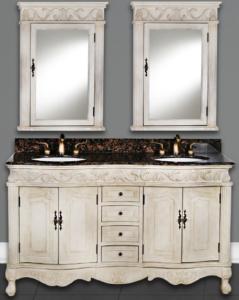 DWI Dragon Bathroom Vanities Antique White Cabinet