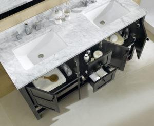 Dowell Bathroom Vanities in Espresso Sinks and Storage