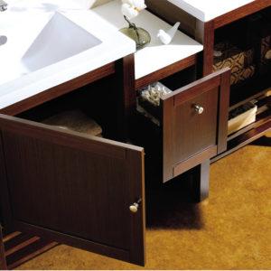 Dowell double bathroom vanity Wenge storage space