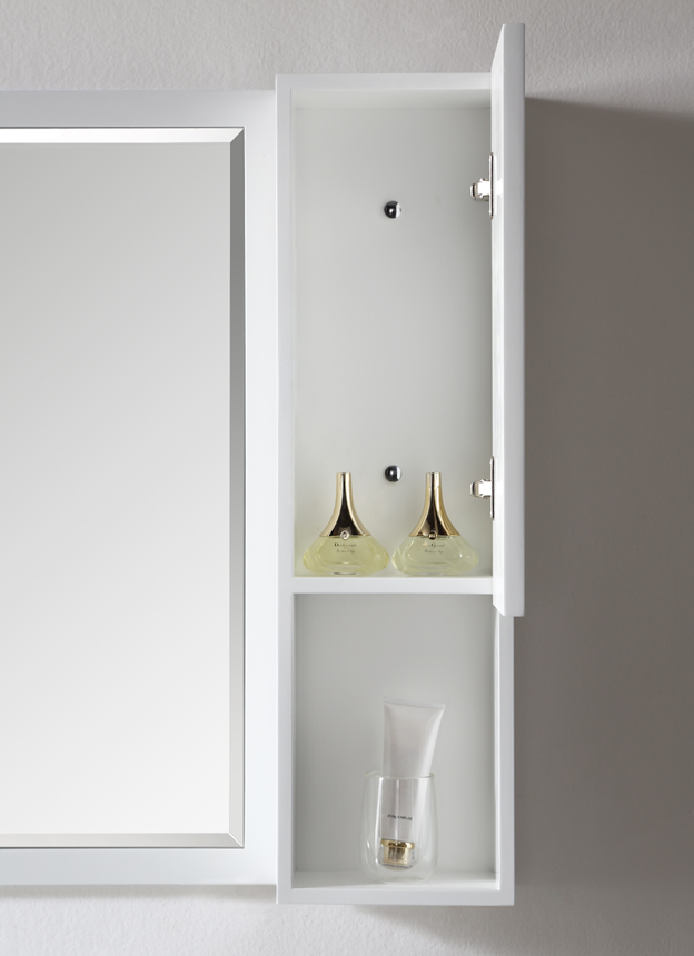 Dowell Single Bathroom Vanities White storage and mirror