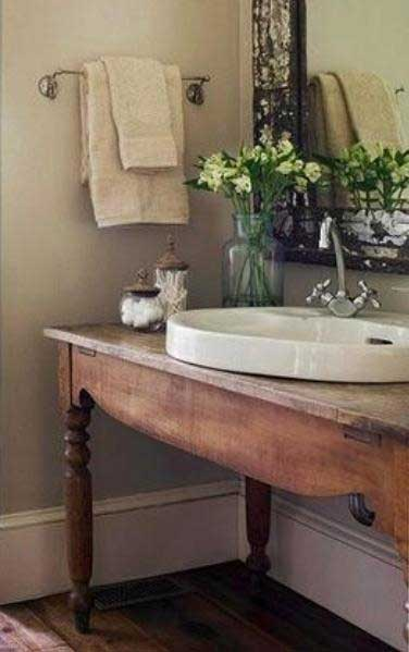 Drop-In Sink Bathroom Vanities Idea