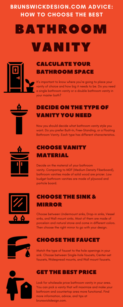 Brunswick Design Tips: How to Choose the Best Bathroom Vanity Infographic