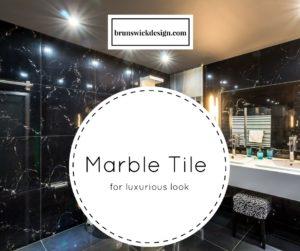 Marble Tile Black Bathroom Contemporary Design
