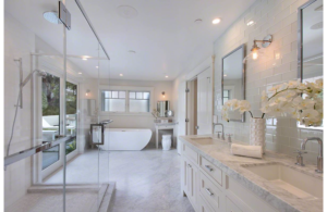 Marble Tile Carrara Bianco Bathroom Design