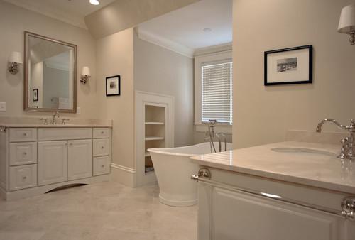 Marble Tile Crema Marfil Bathroom Design