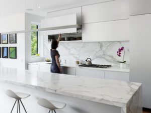 Porcelain Tile that Looks like Marble Kitchen Backsplash Contemporary Design