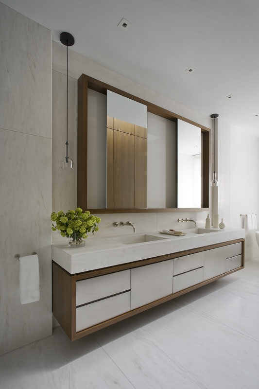 Modern Bathroom Vanity Mirror Design Idea