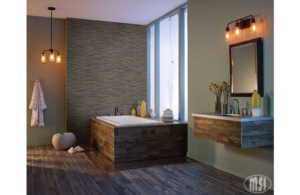 Porcelain Tile That looks like Wood Bathroom Design