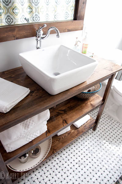 Vessel Sink Wood Bathroom Vanities Design Idea