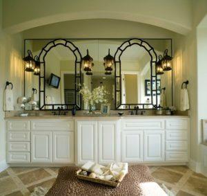 White Double Bathroom Vanity at Improvenet