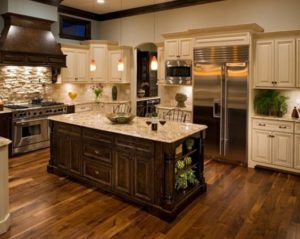 Wood Look Ceramic Tile Traditional Kitchen Design