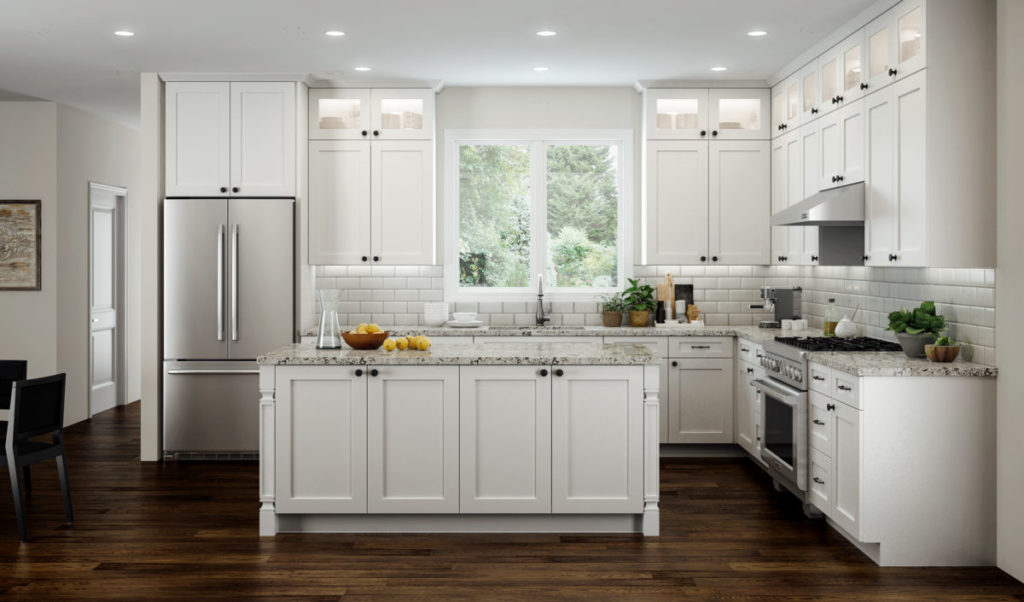 Elegant White Shaker Cabinets By CNC Cabinetry