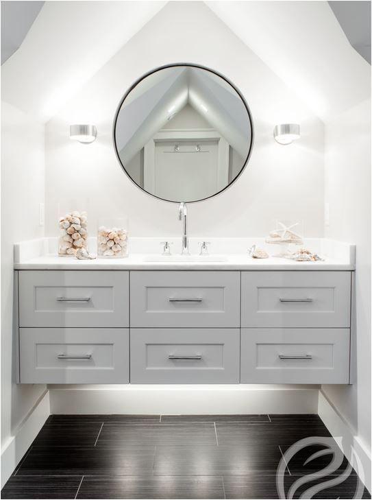 floating shaker style bathroom vanity