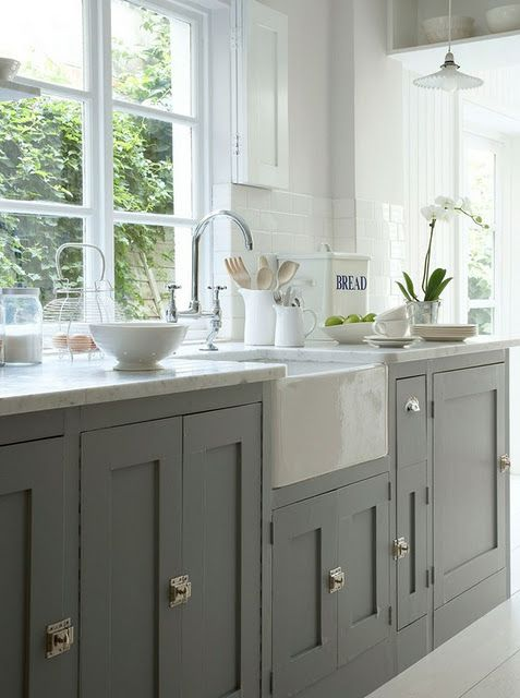Painted Shaker Kitchen Cabinets at It All Started with Paint Blog