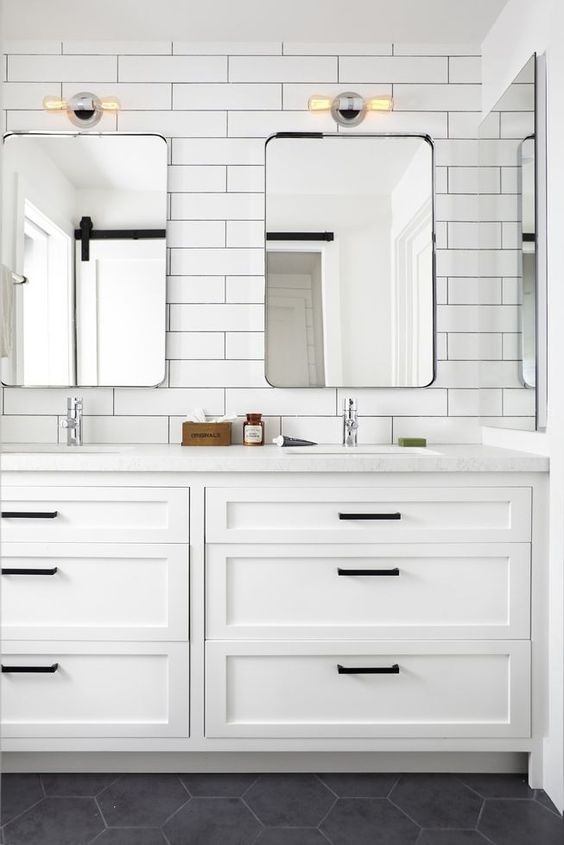 Shaker Style Cabinets Bathroom Hardware Design