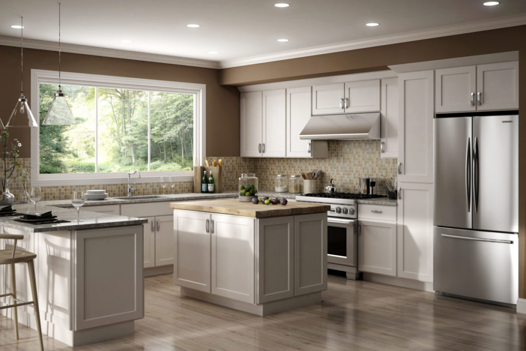 Shaker Style Cabinets Luxor White by CNC Cabinetry