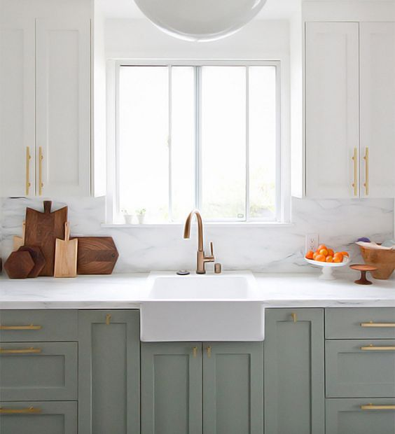Two Tone Shaker Style Cabinets Kitchen Design at Savvy Home Blog