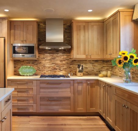 Wood Shaker Style Cabinets Kitchen Design